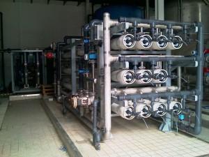 Skid de Osmosis Inversa fabricado por Cigomatico L.S para la empresa Coca-Cola Company en Casablanca (Marruecos) 2010.